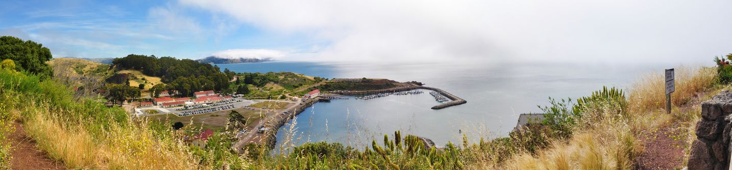 8093762 - panorama of marina with boats in san francisco bay