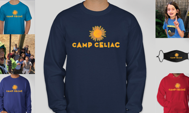 Camp Celiac gear: hoodies, T-shirts & masks!