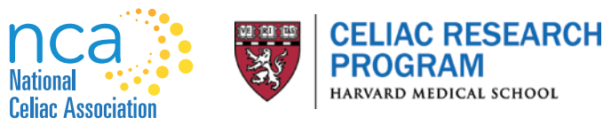 Logos of National Celiac Association and Harvard Celiac Program