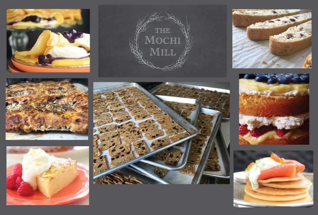 Mochi Mill collage baked goods