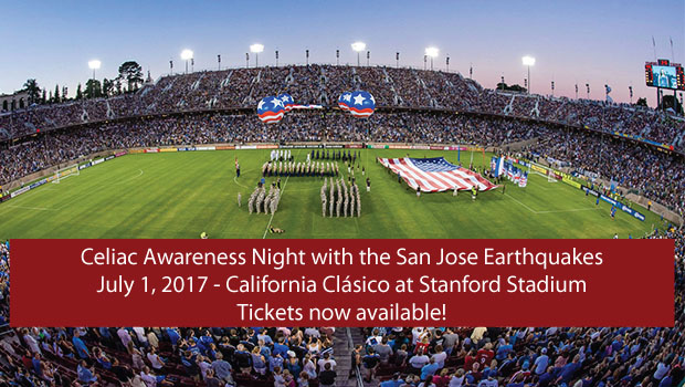 Celiac Disease Awareness Night with the San Jose Earthquakes