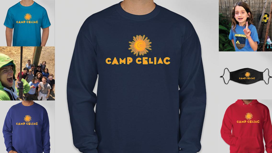 Camp Celiac gear: hoodies, T-shirts & masks!